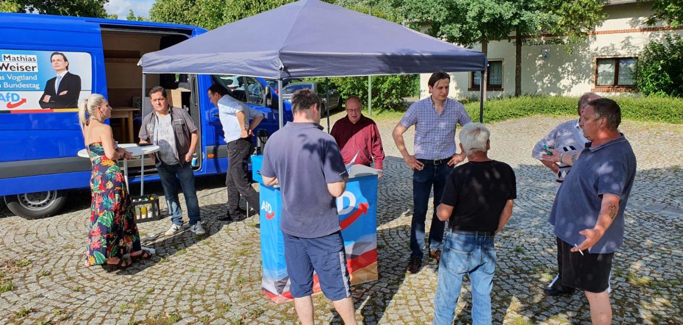 Infostand in Weischlitz