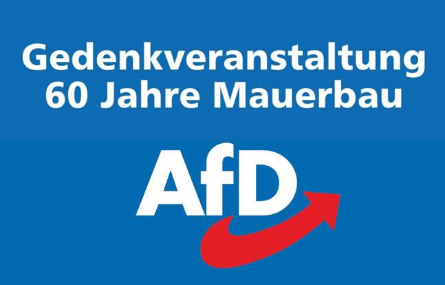 13.08.2021 – Kundgebung in Plauen – 60 Jahre Mauerbau